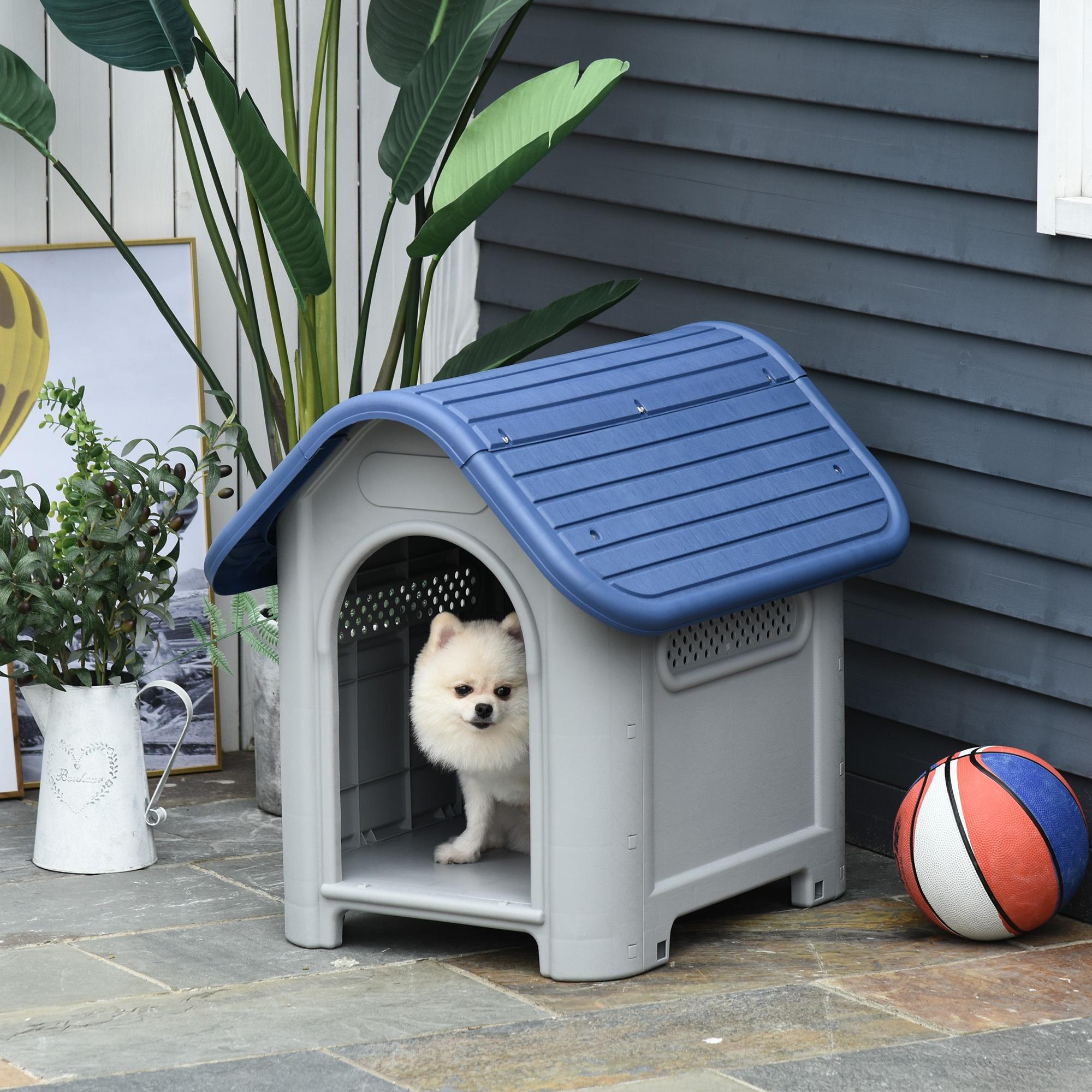 Caseta para perros pequeños con respiraderos